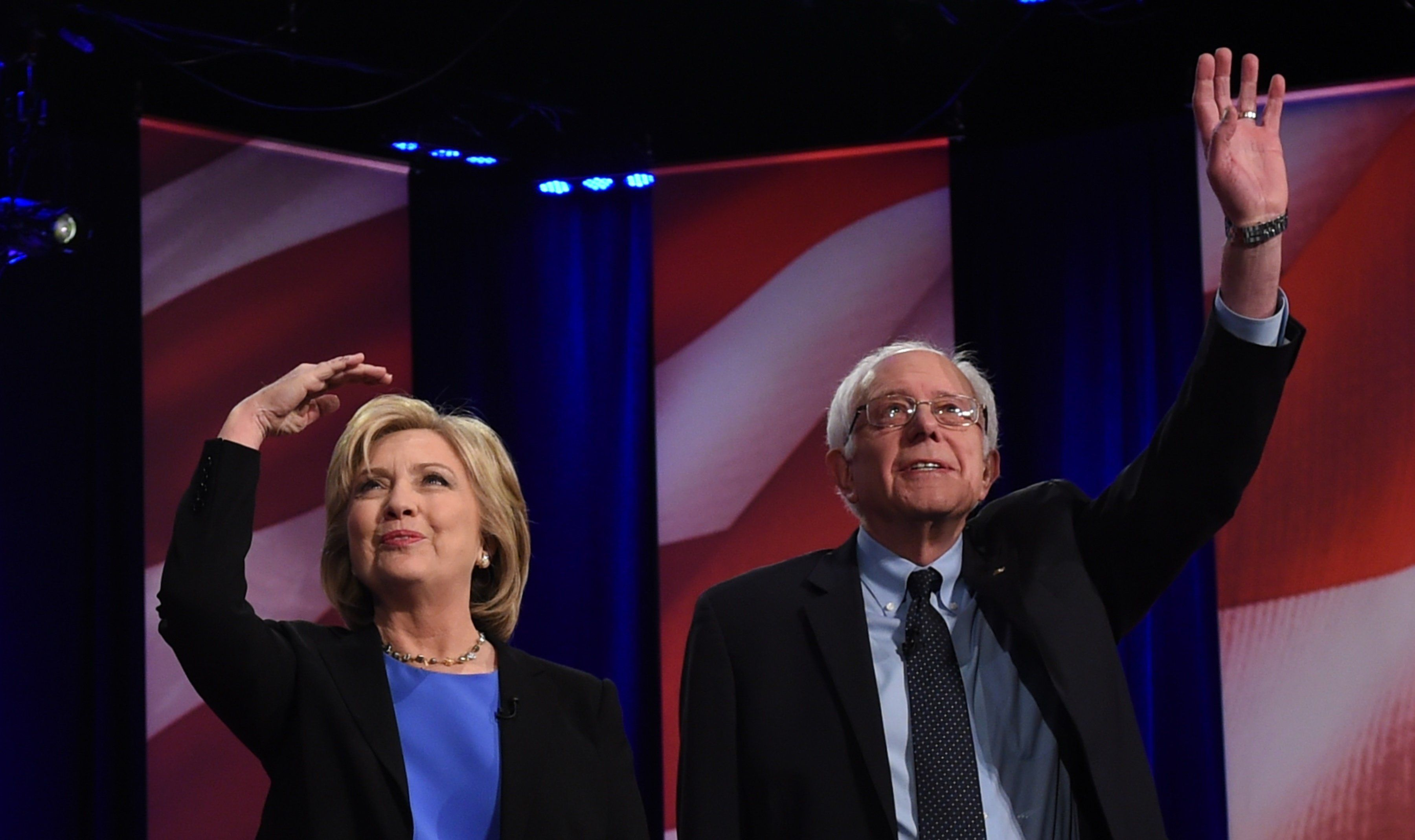 Bernie Sanders is averaging 45.5 percent support compared to Hillary Clinton's 46.1 percent.