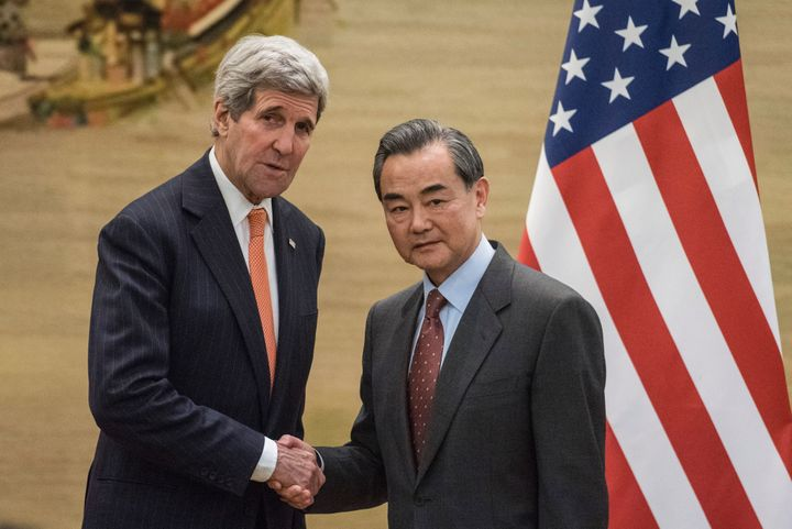 U.S. Secretary of State John Kerry and Chinese Foreign Minister Wang Yi agreed on the need for a U.N. resolution targeting No