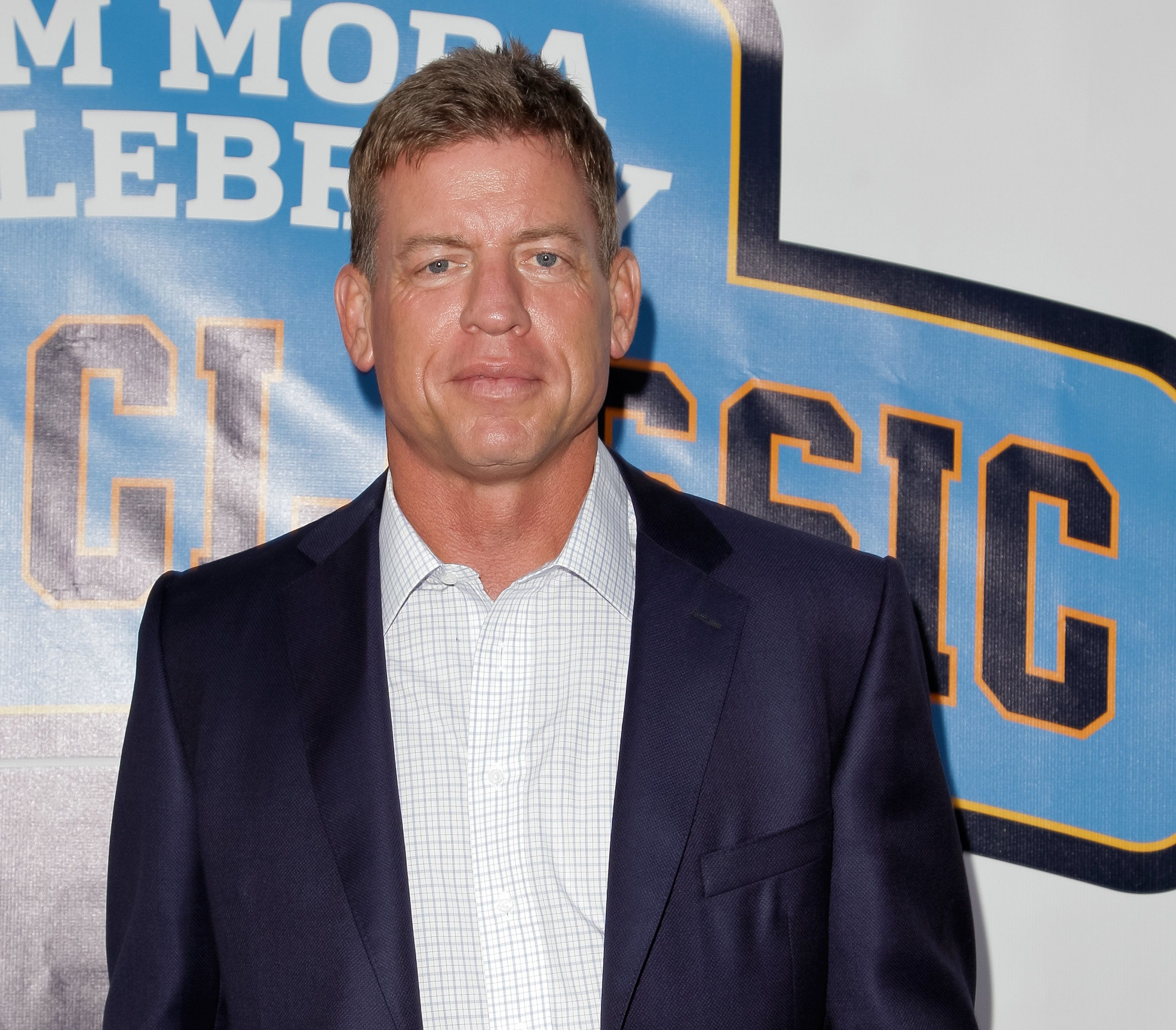 LOS ANGELES, CA - MAY 17:  Troy Aikman attends the 9th annual Jim Mora celebrity golf classic VIP cocktail reception at W Los Angeles  West Beverly Hills on May 17, 2015 in Los Angeles, California.  (Photo by Tibrina Hobson/FilmMagic)