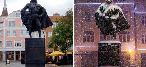 Snow Reveals A Statue's Dark Side By Turning It Into Darth Vader