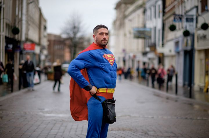 Good thing Antonio Cortes didn't have to rely on superpowers -- he's a trained Thai boxer.
