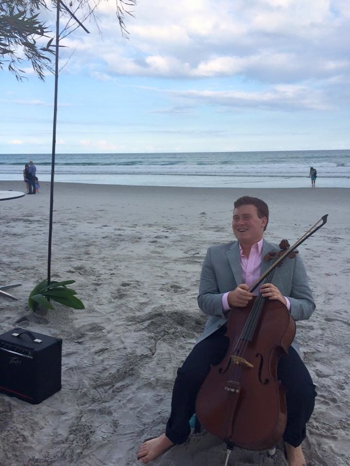 """Matt Rafferty, 20, seen here posing with a cello is one of the cowriters of """"Texts From A Beta."""" The song's lyrics were repor"""
