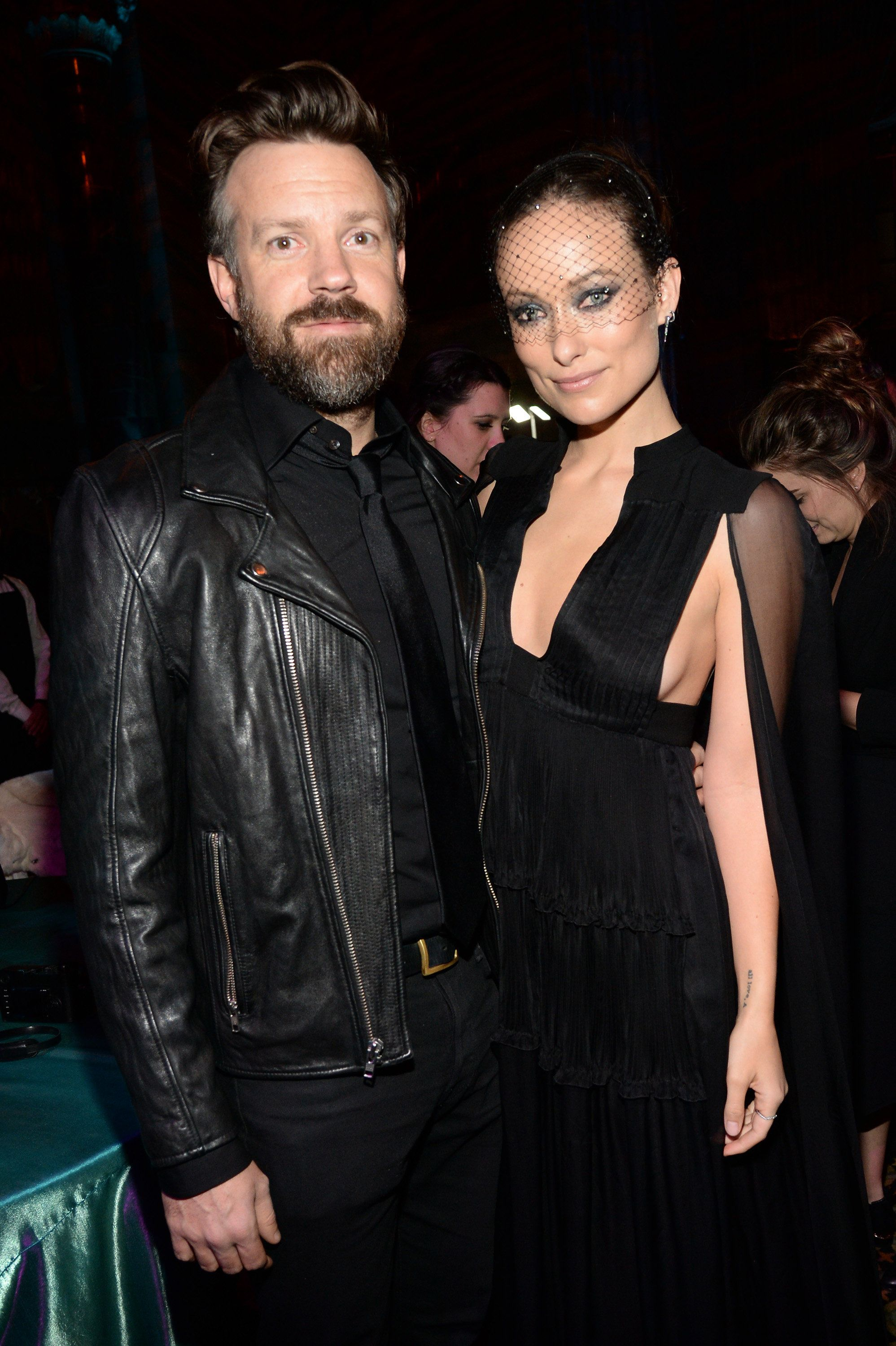 Jason Sudeikis and Olivia Wilde attend the after party of the New York premiere of 'Vinyl' at Ziegfeld Theatre on January 15,