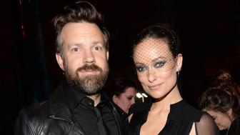 NEW YORK, NEW YORK - JANUARY 15:  Actors Jason Sudeikis (L) and Olivia Wilde attend the after party of the New York premiere of 'Vinyl' at Ziegfeld Theatre on January 15, 2016 in New York City.  (Photo by Kevin Mazur/Getty Images)