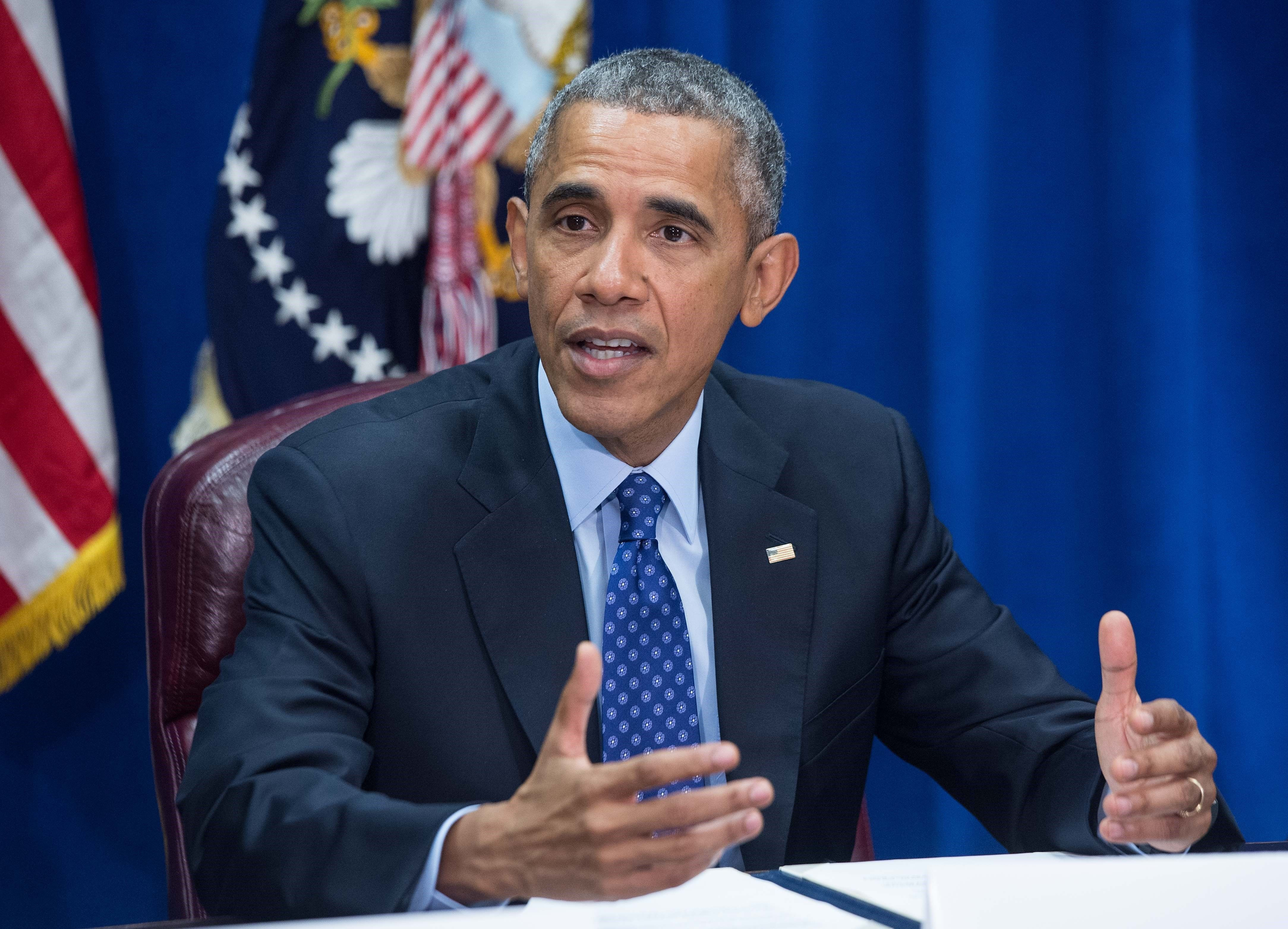 US President Barack Obama speaks about the Trans-Pacific Partnership (TPP) agreement during an event at the Agriculture Department in Washington, DC, on October 6, 2015.   AFP PHOTO/NICHOLAS KAMM        (Photo credit should read NICHOLAS KAMM/AFP/Getty Images)