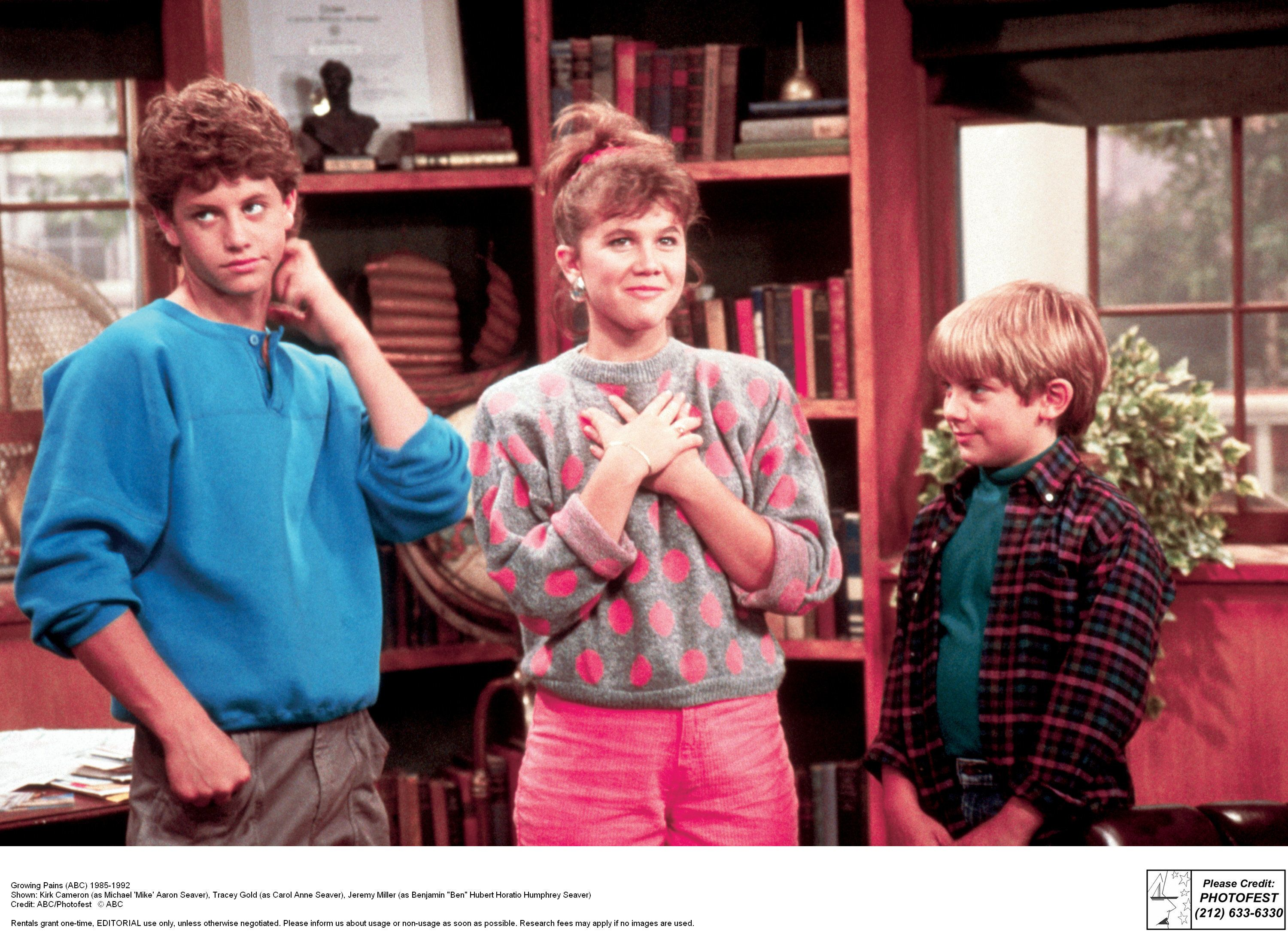 """Kirk Cameron and Tracey Gold starred as siblings in """"Growing Pains"""" in the '80s, and Gold says the two still disagree """"just l"""