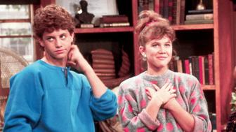 "Growing Pains (ABC) 1985-1992 Shown: Kirk Cameron (as Michael 'Mike' Aaron Seaver), Tracey Gold (as Carol Anne Seaver), Jeremy Miller (as Benjamin ""Ben"" Hubert Horatio Humphrey Seaver)"