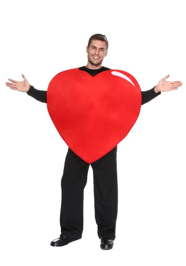 "It's one thing to wear your heart on your sleeve, it's another to <a href=""http://www.halloweencostumes.com/adult-heart-costu"