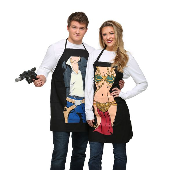 "If you wear an apron of <a href=""http://www.fun.com/star-wars-han-solo-character-apron.html"" target=""_blank"">Han Solo</a> or"