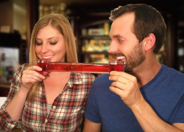"Some couples crave closeness -- even when they drink. Thanks to the <a href=""http://drunkmall.com/post/132088683183/wingman-t"