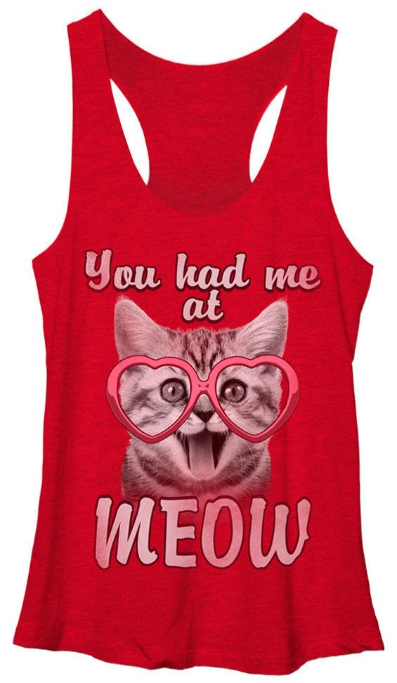 "If seducing a cat lady is your M.O., a tank that reads, <a href=""http://www.allposters.com/-sp/Juniors-Tank-Top-Valentines-Ki"