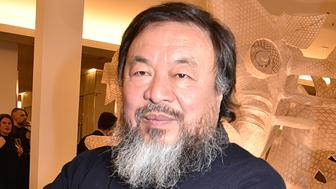 PARIS, FRANCE - JANUARY 18:  Painter/sculptor Ai Weiwei attends the Ai Weiwei Exhibition Preview Cocktail at Le Bon Marche on January 18, 2016 in Paris, France.  (Photo by Foc Kan/WireImage)