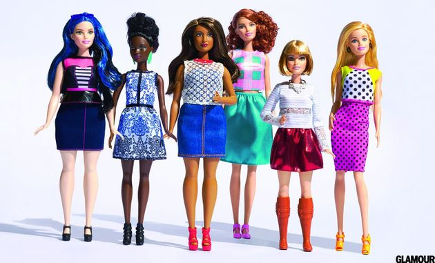 The new class of Barbie dolls -- as photographed for Glamour