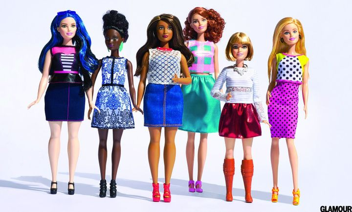 The new class of Barbie dolls -- as photographed for Glamour Magazine.