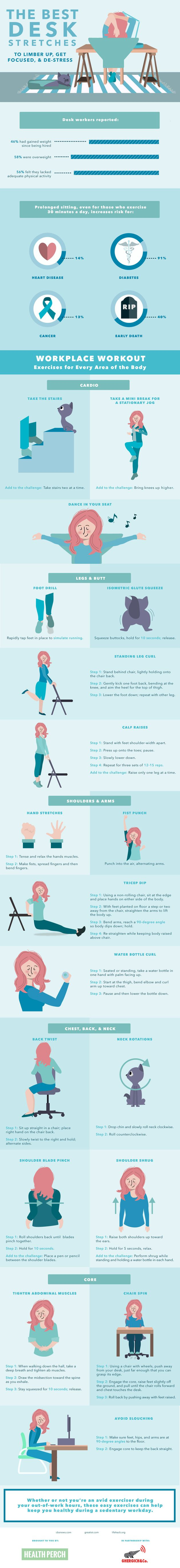 Try These Desk Stretches And Exercises To Relieve The Pains Of Your Day