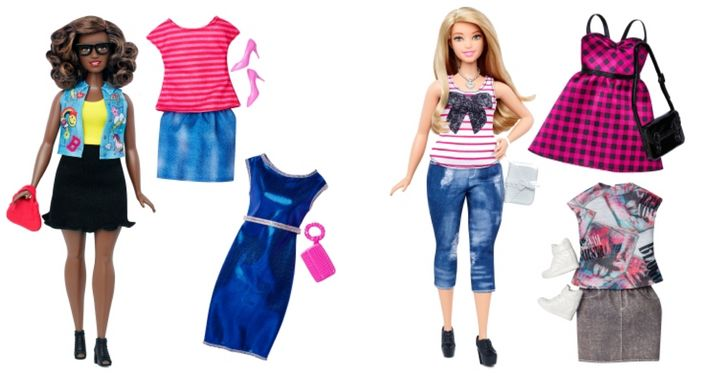 "The new ""curvy"" Barbie, as seen on Barbie.com"