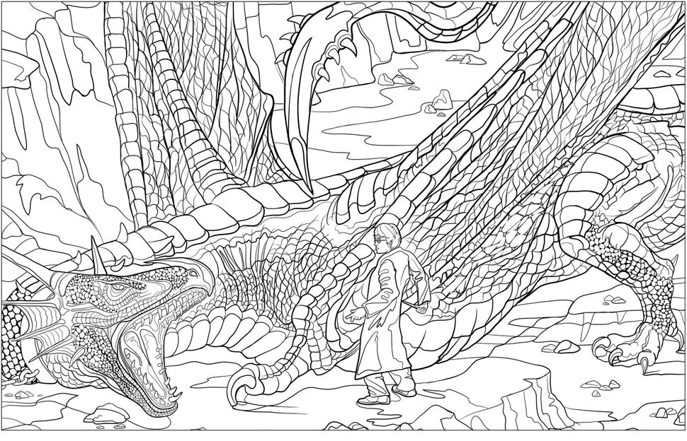 fantastic beasts coloring pages free | Can't Wait For 'Fantastic Beasts'? There's A 'Harry Potter ...