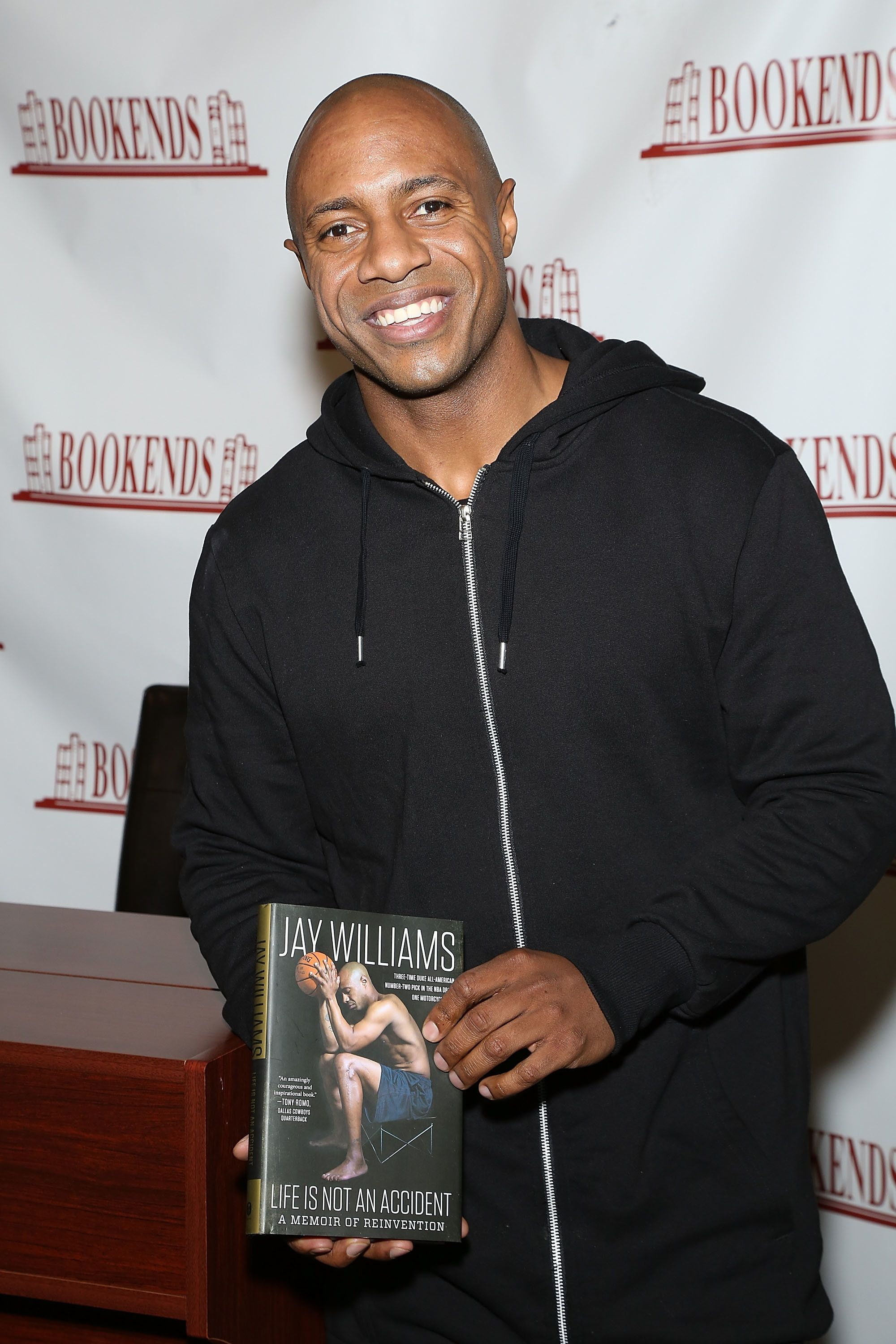 RIDGEWOOD, NEW JERSEY - JANUARY 26:  Jay Williams signs copies of his new book 'Life Is Not An Accident' at Bookends Bookstore on January 26, 2016 in Ridgewood, New Jersey.  (Photo by Manny Carabel/Getty Images)