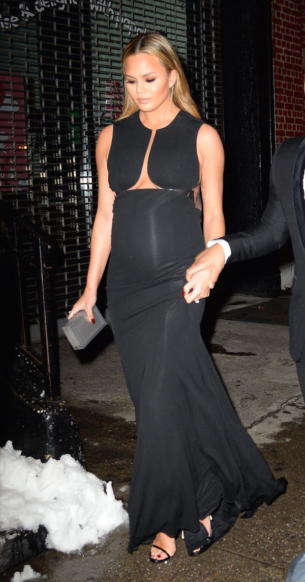 "<strong>Chrissy Teigen in Kaufmanfranco:</strong> The model's maternity style has been on point and <a href=""http://www."