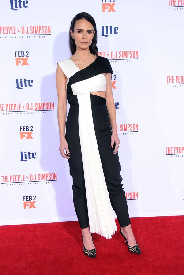 <strong>Jordana Brewster in Vionnet:</strong> If nothing else, this outfit just interesting to look at. It takes a minut