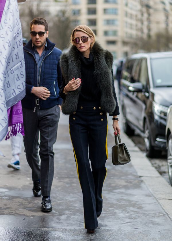 <strong>Olivia Palermo in Joseph and Elie Saab:</strong> Palermo strikes again, this time in a more minimalist outfit. The st