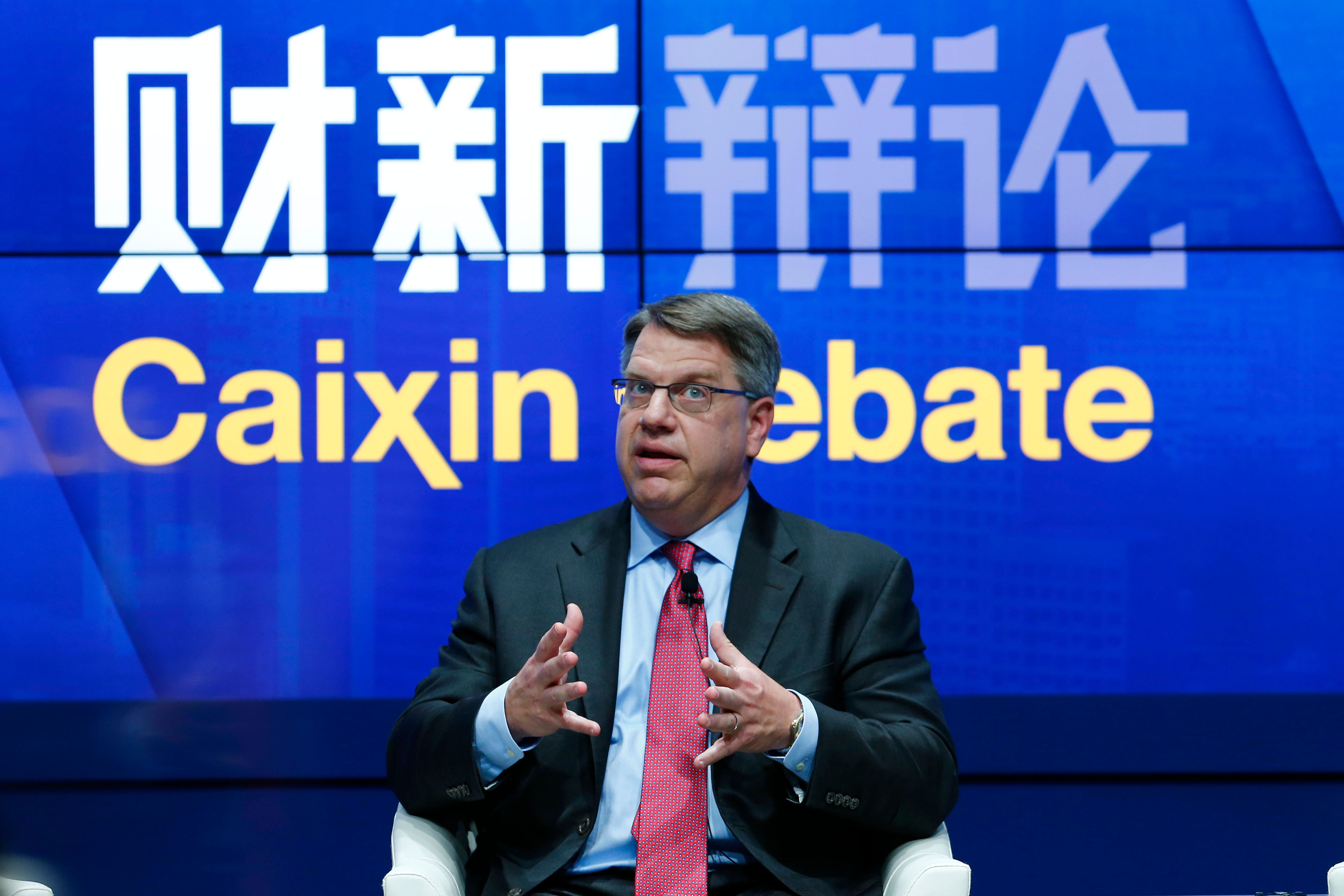 DALIAN, CHINA - SEPTEMBER 09: (CHINA OUT) Rich Lesser, president and CEO of Boston Consulting Group, speaks during 2015 World Economic Forum (aka Summer Davos Forum) at Dalian International Convention Center on September 9, 2015 in Dalian, Liaoning Province of China. (Photo by Fu Tian/CNSPHOTO/ChinaFotoPress via Getty Images)