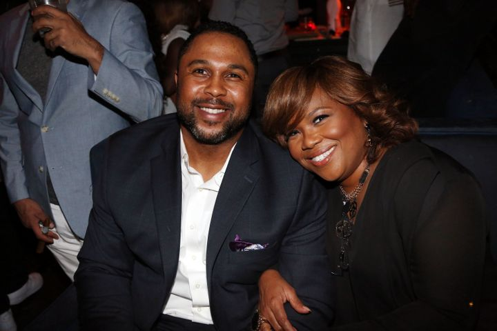 Mona Scott-Young and her husband, Scott Young -- shown here in 2014 -- celebrated their 10th anniversary last summer. They ha