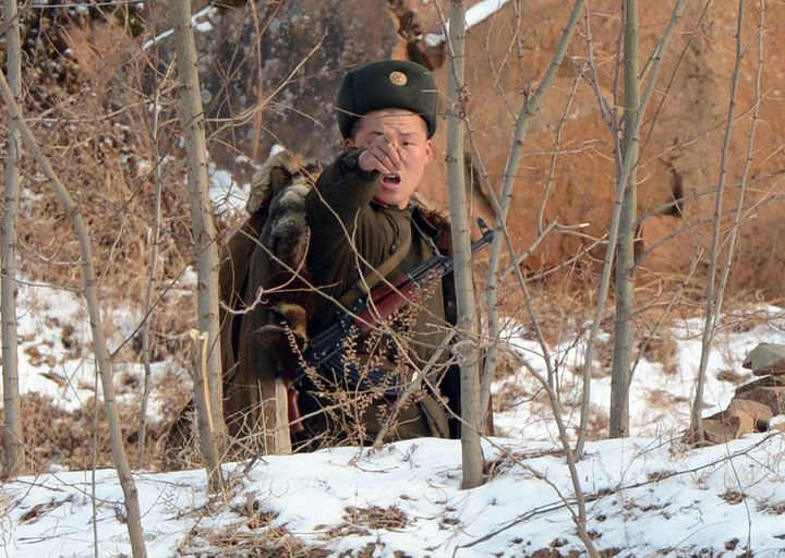 North Korea has faced international condemnation and U.N. sanctions for its nuclear activities. Above, a North Korean soldier