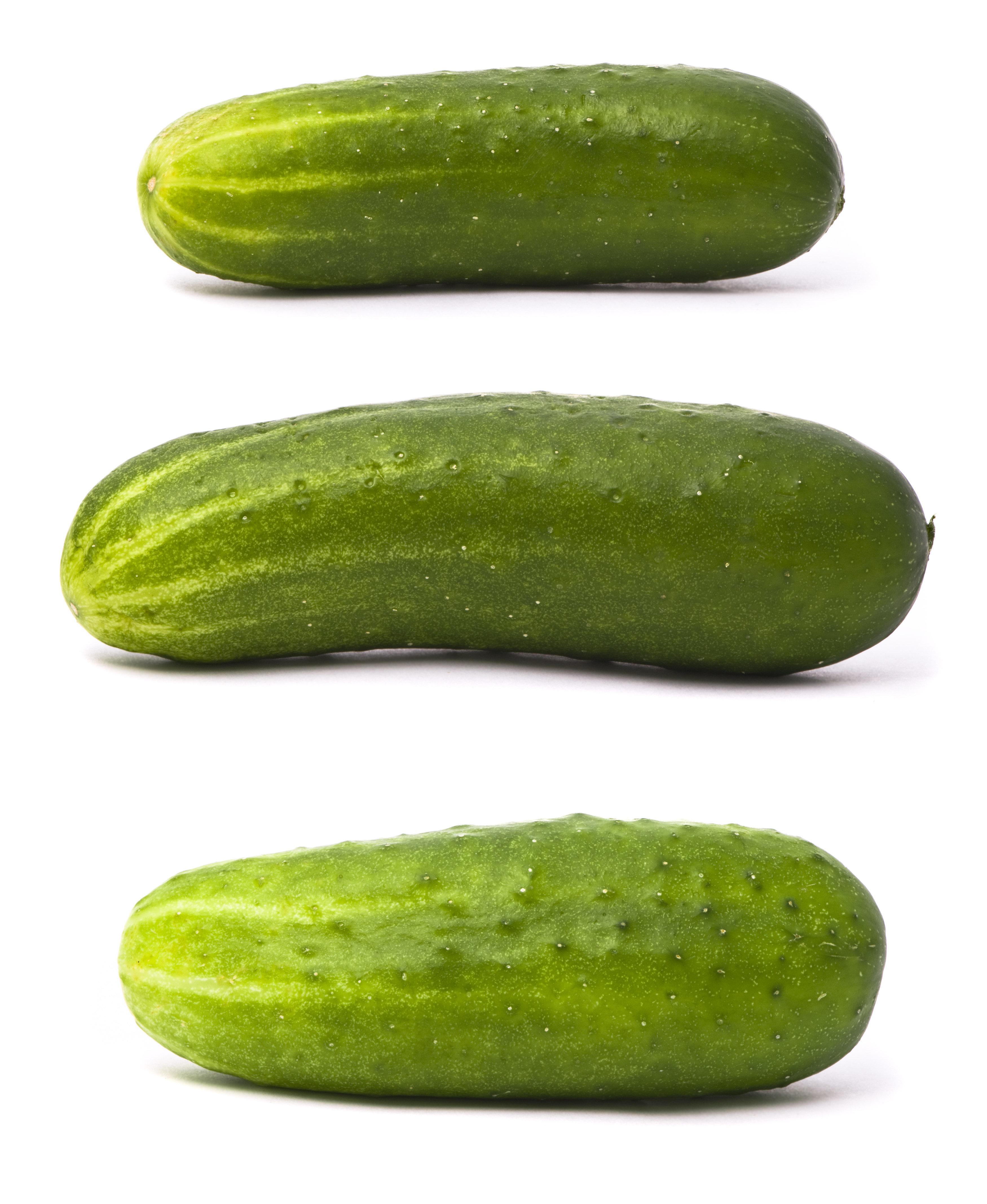 Fresh cucumbers set