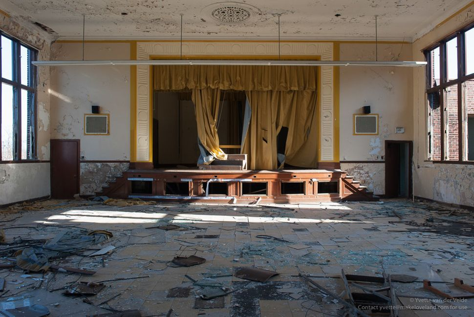 The auditorium at Carstens Elementary, closed in 2011.