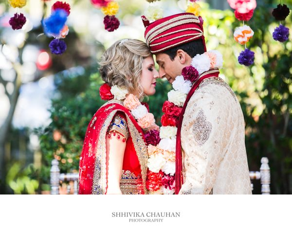 """We chose to honor both of our faiths in our wedding by having a dual ceremony. As guests arrived the scene was set for a tra"
