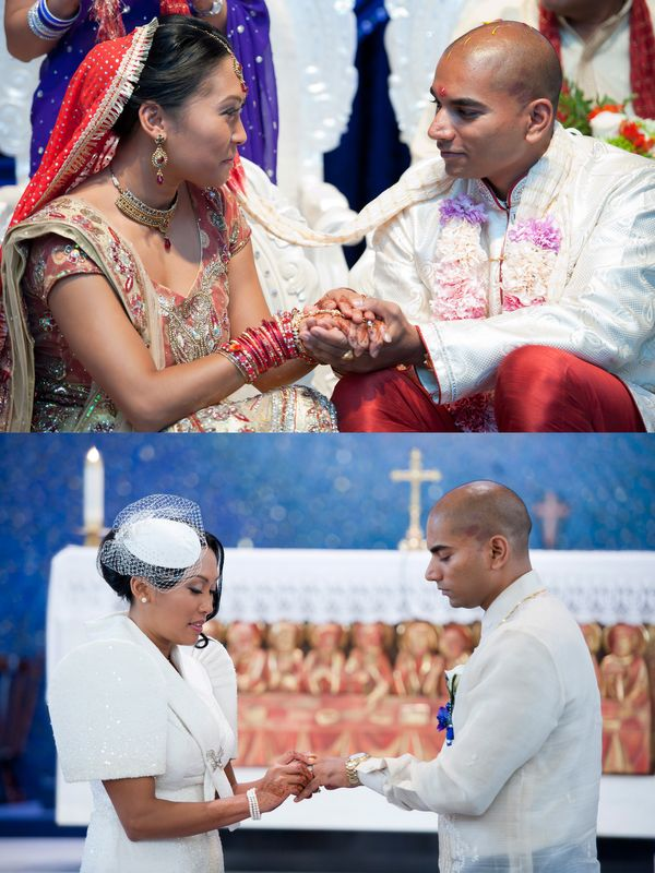 """We honored our two faiths in many ways on our wedding day. First, we made the choice to both wear, including our entire wedd"