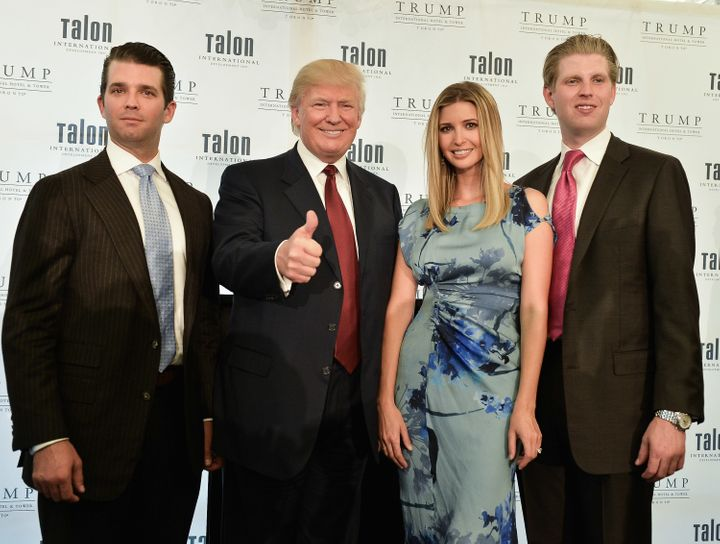 Here are four of the five members of the Trump Foundation's board: Donald Jr., Donald, Ivanka and Eric Trump.