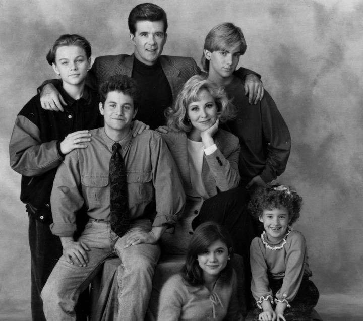 "Leonardo DiCaprio (back left) joined the cast of ""Growing Pains"" in 1991. He was roughly the same age as Jeremy Miller (back"