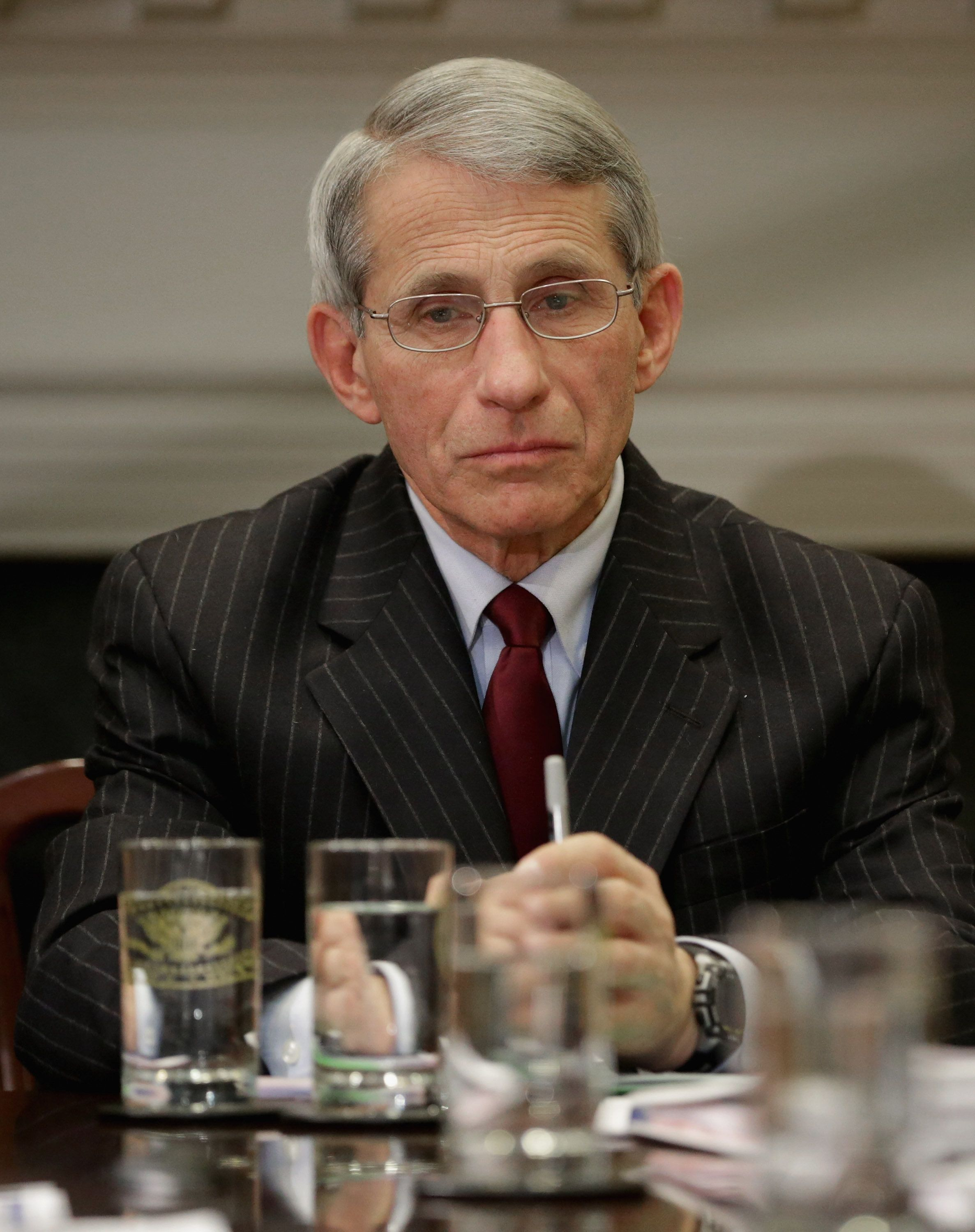 U.S. National Institute of Allergy and Infectious Diseases Director Anthony Fauci says agency researchers...