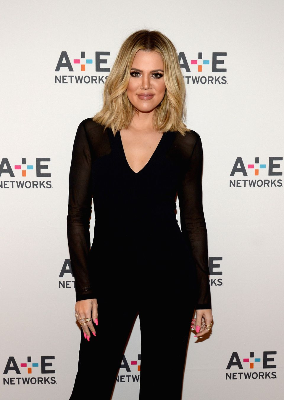 PASADENA, CA - JANUARY 06:  Television personality Khloe Kardashian attends the A+E Networks 2016 Television Critics Associat