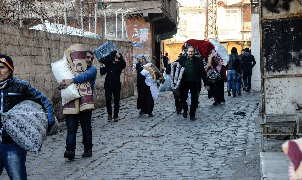 Many scrabbled to bring their belongings with them after the new curfews were imposed on
