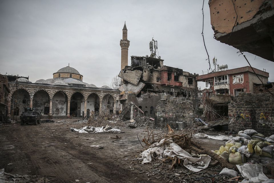 Fighting has badly damaged the historic district of Sur, an area that dates back tens of thousands of...