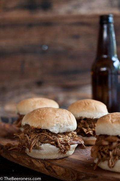 "<strong>Ge the <a href=""http://thebeeroness.com/2013/11/01/slow-cooker-beer-brown-sugar-pulled-chicken-sliders/"" target=""_bla"