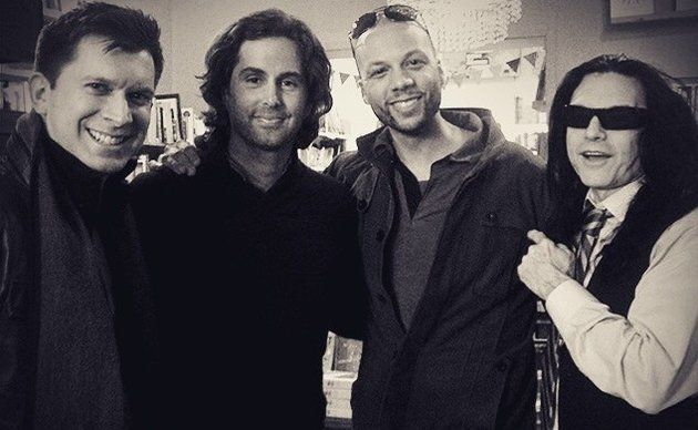 Fernando Forero, Greg Sestero, Rick Harper and Tommy Wiseau (left to right).