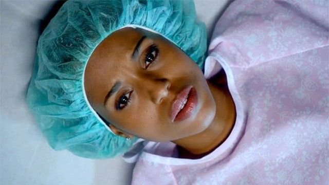 "A shot from Olivia Pope's abortion scene on ""Scandal."""