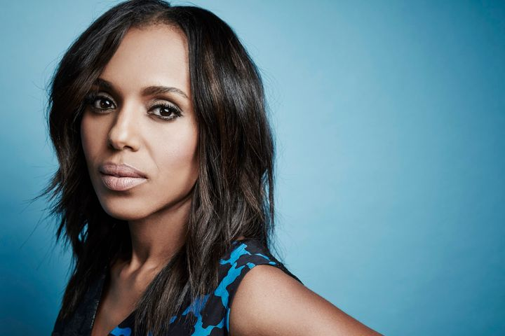 Kerry Washington poses in the Getty Images Portrait Studio at the 2016 Winter Television Critics Association press tour.