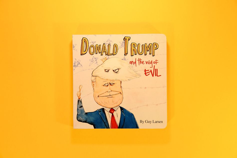 Artist who drew donald trump with small penis claims she for Children s fish book