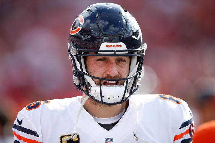 Jay Cutler, pictured during a game Dec. 27, was singled out for all the wrong reasons in a Bears fan's obituary.