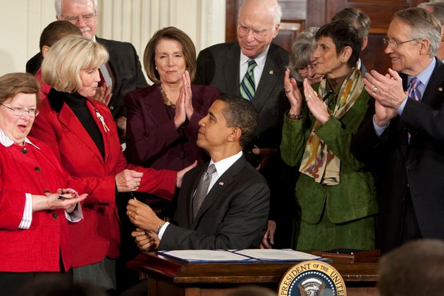 President Barack Obama signs the Lilly Ledbetter Fair Pay Act in 2009, a measure that Supreme Court Justice...