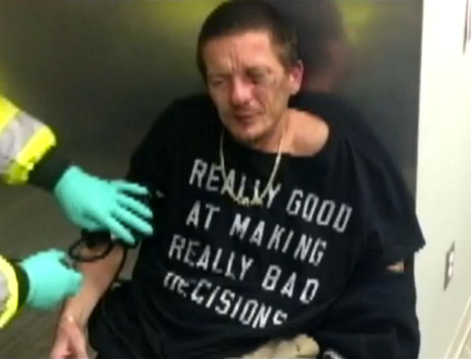 Authorities in Beaver County, Penn., arrested Michael Emrick, 36, for a variety of felonies and couldn't help but notice the t-shirt he was wearing.