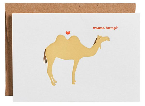 """Buy it <a href=""""http://www.papersource.com/item/Camel-Wanna-Hump-Valentine-Card/3901_002/807321.html"""" target=""""_blank"""">here</a"""