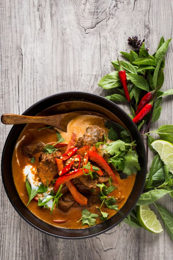 "<strong>Get the <a href=""http://thedomesticman.com/2015/12/01/thai-red-curry/"" target=""_blank"">Thai Red Curry recipe</a>&nbsp"