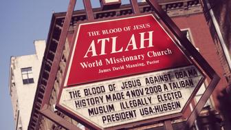 ATLAH World Missionary Church is Christian church in Harlem in New York City. USA 2010. (Photo by: PYMCA/UIG via Getty Images)