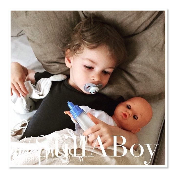 """A boy who likes pink or plays with dolls is #StillABoy"" says mom and campaign creator Martine Zoer."